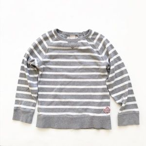 H&M stripe thick long sleeve top VGUC  6-7Y